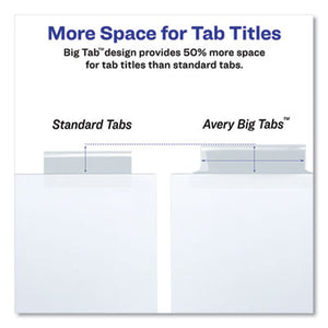 Insertable Big Tab Dividers, 8-Tab, 11 1/8 X 9 1/4