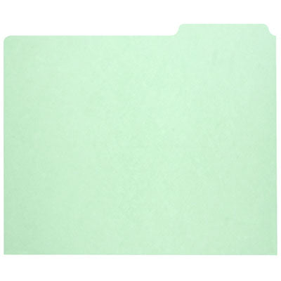 7530009886515 SKILCRAFT FILE GUIDE CARD, 3-TAB, 11.75 X 10, LIGHT GREEN, 1 SET