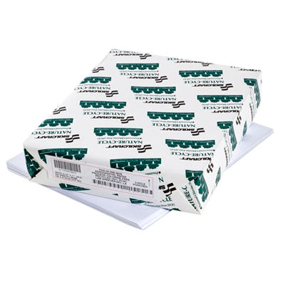 7530015399832 SKILCRAFT NATURE-CYCLE COPY PAPER, 92 BRIGHT, 3-H, 20LB, 8.5 X 11, WHITE, 500 SHEETS/REAM, 10 REAMS/CARTON
