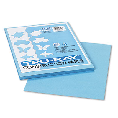 TRU-RAY CONSTRUCTION PAPER, 76LB, 9 X 12, SKY BLUE, 50/PACK