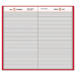 STANDARD DIARY DAILY DIARY, RECYCLED, RED, 7 11/16 X 12 1/8, 2019