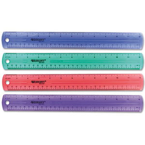 "12"" Jewel Colored Ruler"
