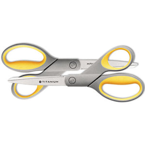 "Titanium Bonded Scissors, 8"" Straight, 2/pack"