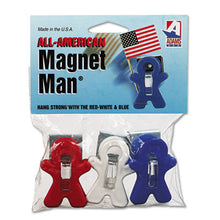 Load image into Gallery viewer, Magnet Man Clip, Plastic, Assorted Colors, 3/pack