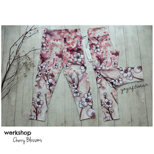 Werkshop Capri Length - Cherry Blossoms (WS00077)