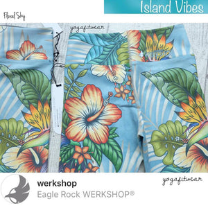 Werkshop Capri Length - Floral Sky (WS00105)