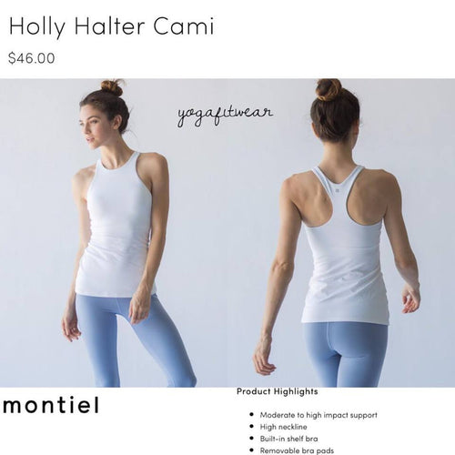 Montiel Cami(tank) - Holly Halter Cami (white) (MT00077)