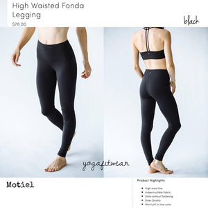 Montiel Legging - High Waisted Fonda Legging (black) (MT00060)