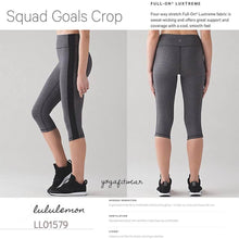 Lululemon - Squad Goals Crop (Heathered Black) (LL01579)