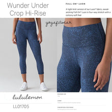 Lululemon - Lululemon Wunder Under Crop*Hi-rise (Power luxtreme mineral deposit lunar eclipse royal) (LL01705)
