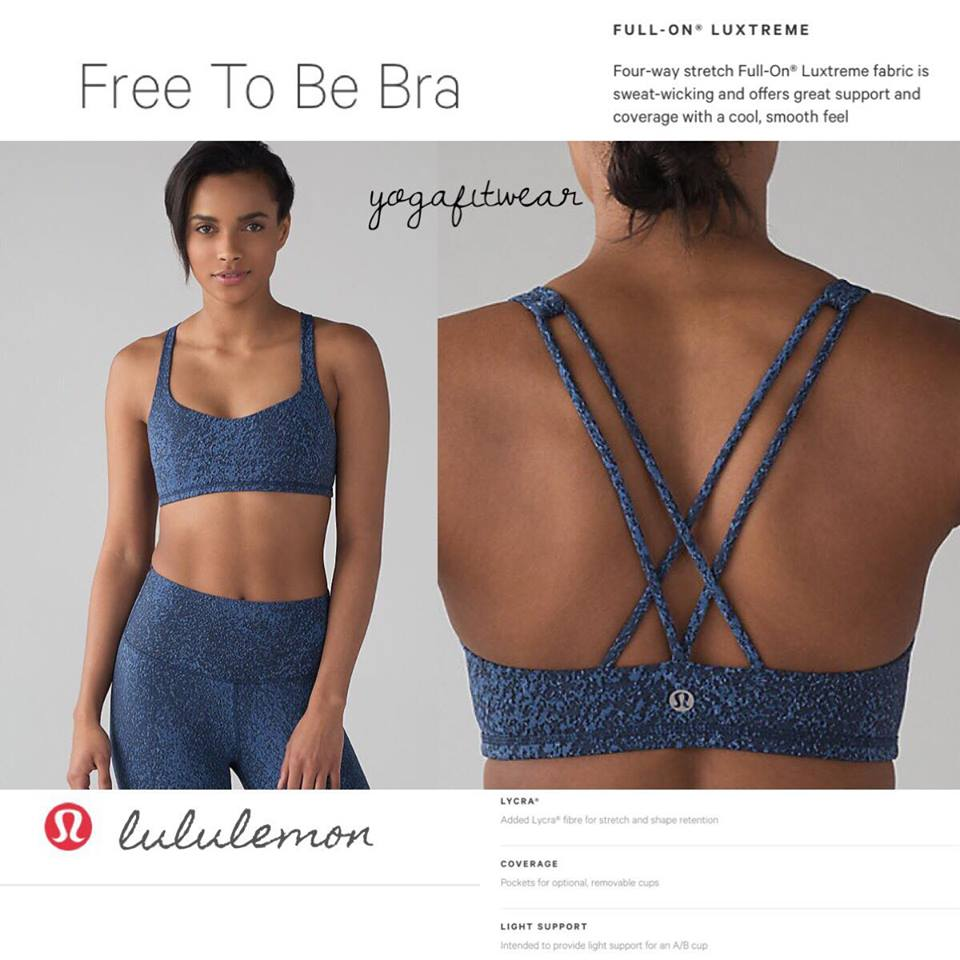 Lululemon -  Free to be bra (Power luxtreme mineral deposit lunar eclipse royal) (LL01689)