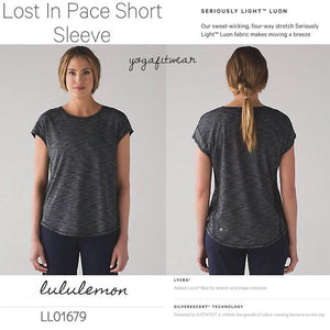 Lululemon - Lost in pace short sleeve (Heathered black) (LL01679)
