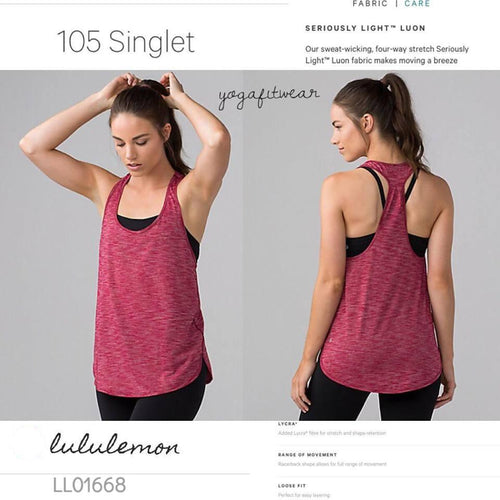 Lululemon -  105 Singlet (Heathered Cranberry) (LL01668)