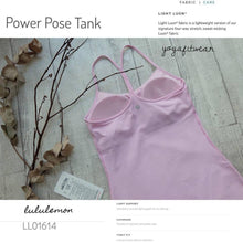 Lululemon -  Power Pose Tank *Light support for A/B cup  (Cherry Blossom) (LL01614)