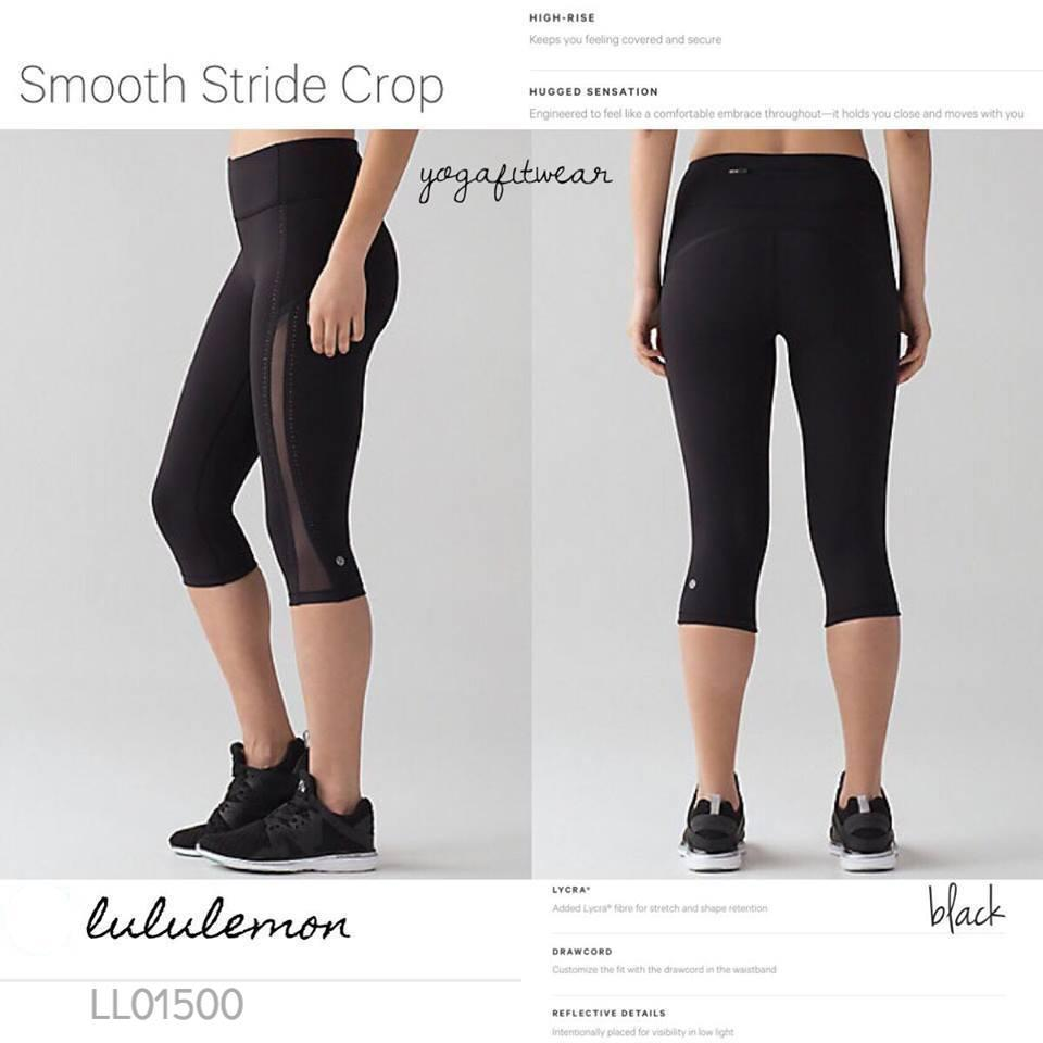 Lululemon -  Smooth Stride Crop (black) (LL01500)