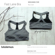 Lululemon - Fast Lane  Bra (Heathered black) (LL01375)