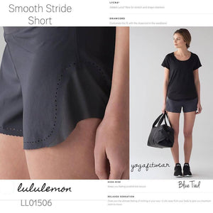 Lululemon - Smooth Stride Short (Blue Tied/black) (LL01506)
