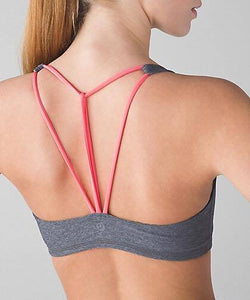 Lululemon - Free to be Bra*Trinity (Heathered Slate/Grapefruit) (LL01472)