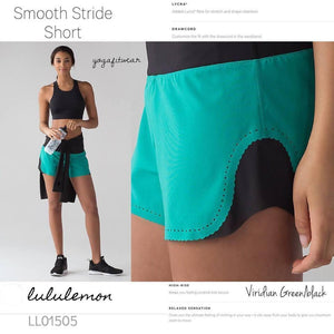 Lululemon - Smooth Stride Short (Viridian Green/ Black) (LL01505)