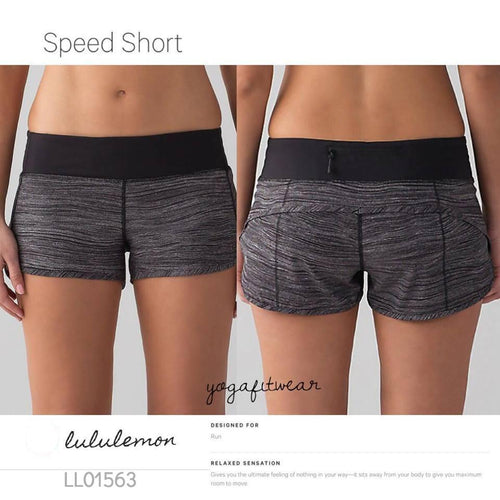Lululemon - Speed Short (Bit Point ice grey black/Black) (LL01563)