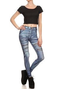 Poprageous Legging - Comic Jeans Legging (PO00023)