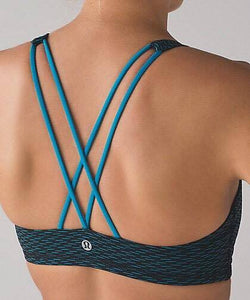 Lululemon - Free to be Bra (Score Jacquard Black Indian) (LL01406)