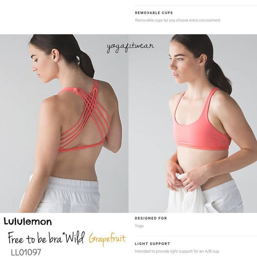 Lululemon - Free to be Bra*Wild (Grapefruit) (LL01097)