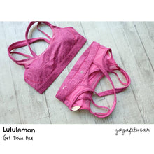 Lululemon - Get Down Bra (Rio Mist Pink Paradise Red Grape) (LL00720)