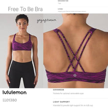 Lululemon - Free to be Bra (Life Line polar pink black) (LL01380)