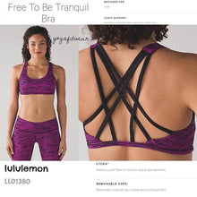 Lululemon - Free to be Tranquil  Bra (Life lines polar pink black) (LL01378)
