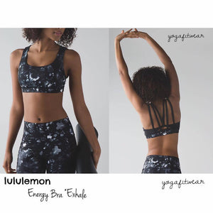 Lululemon - Energy Bra*Exhale (Dusk Dye white black) (LL01005)