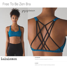 Lululemon - Free to be zen bra (Power Luxtreme spray jacquard shocking blue black) (LL01273)