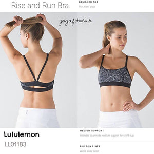 Lululemon - Rise and Run Bra (Mini Splatter white black) (LL01183)