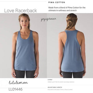 Lululemon -  Love Racerback (Blue Denim) (LL01446)