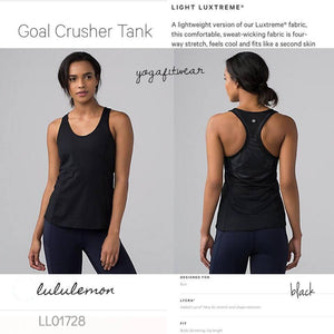 Lululemon -  Goal Crusher Tank (Black) (LL01728)