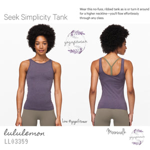 Lululemon - Seek Simplicity Tank (Moonwalk) (LL03359)