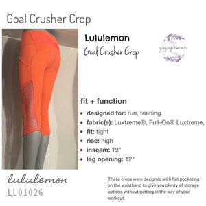 Lululemon - Gear Crusher Crop (Cape) (LL01026)