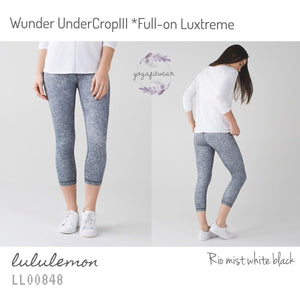 Lululemon -  Wunder Under CropIII*full-on Luxtreme (Rio mist white black) (LL00848)