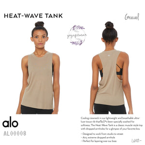 alo : Heat-Wave Tank (Gravel) (AL00008)