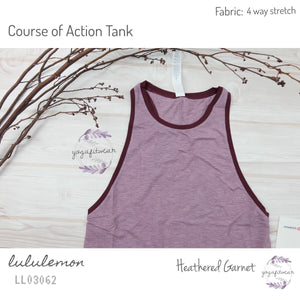 Lululemon - Course of Action Tank (Heathered Garnet) (LL03062)