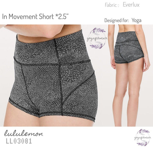 "Lululemon - In Movement Short* 2.5"" (Meisai Ice Grey Black) (LL03081)"