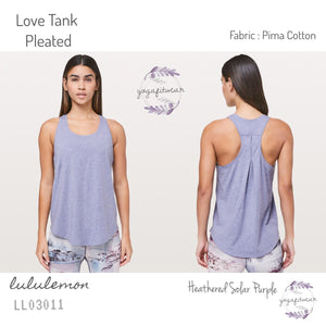 Lululemon - Love Tank *Pleated (Heathered Solar Purple) (LL03011)