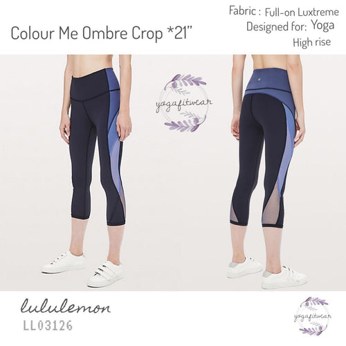 "Lululemon - Colour Me Ombre Crop*21"" (Midnight Navy/ Gatsby Blue/Visto Blue) (LL03126)"