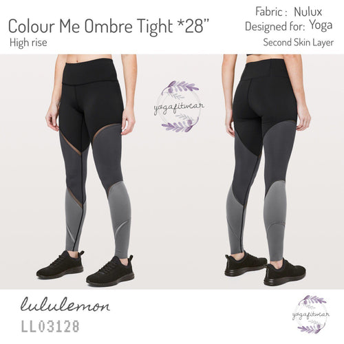 "Lululemon - Colour Me Ombre Tight*28"" (Black /Obsidian /Titanium) (LL03128)"