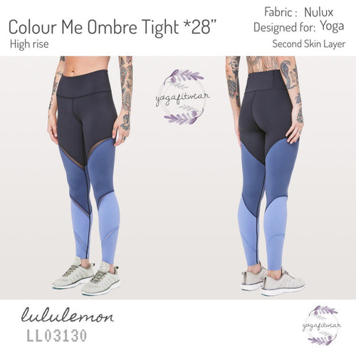 "Lululemon - Colour Me Ombre Tight*28"" (Midnight Navy/ Gatsby Blue/ Visto blue) (LL03130)"