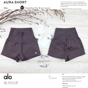 alo : Aura Short (Raisin) (AL00118)