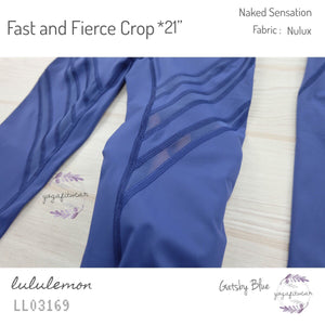 "Lululemon - Fast and Fierce Crop * 21"" (Gatsby Blue) (LL03169)"