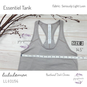 Lululemon - Essential Tank (Heathered Dark Chrome) (LL03156)