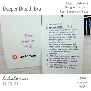 Lululemon - Deeper Breath Bra (Mod Stripe Black White) (LL03161)