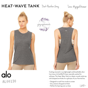 alo : Heat-Wave Tank (Dark Heather Grey) (AL00130)